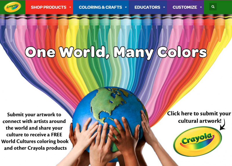 Artwork created for the award-winning campaign for Crayola.