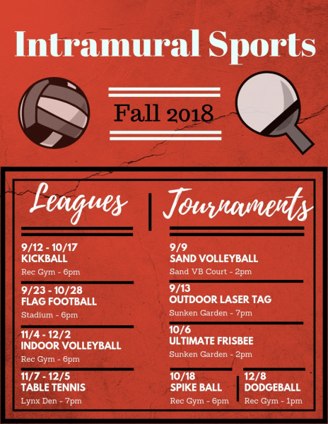 Intramural Sports - Fall 2018