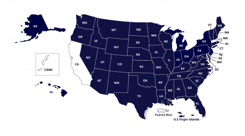 Map Showing Members of NC-SARA