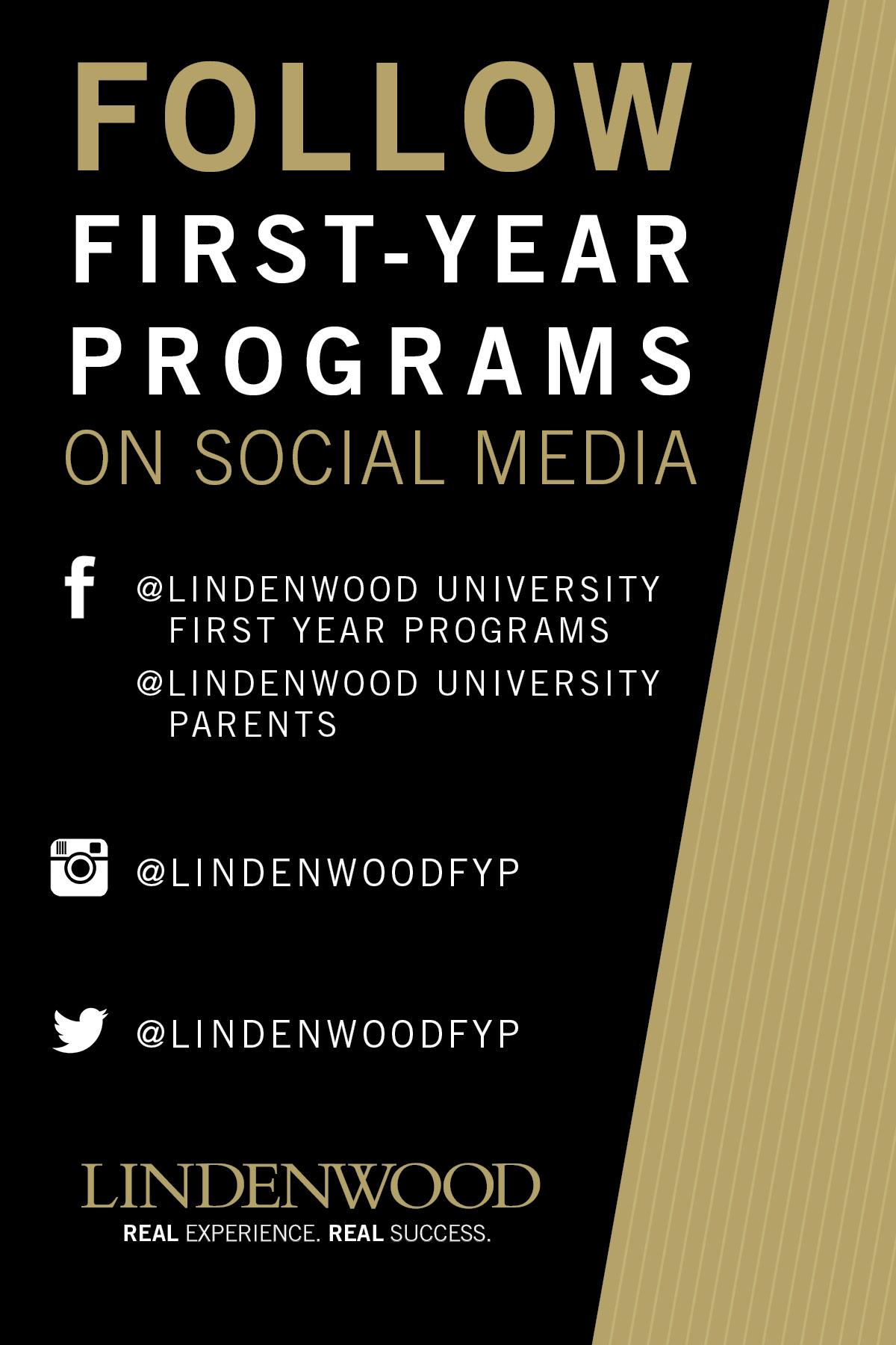 First Year Programs - Social Media Handout