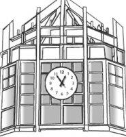 Spellmann Center's clocktower